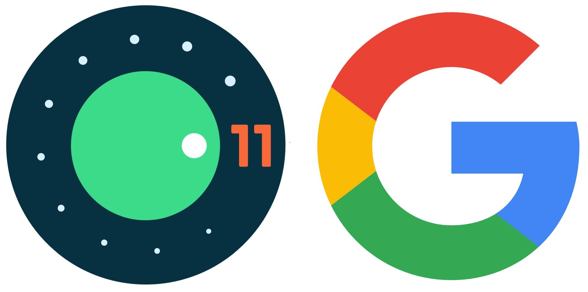 android 11 google logo separate