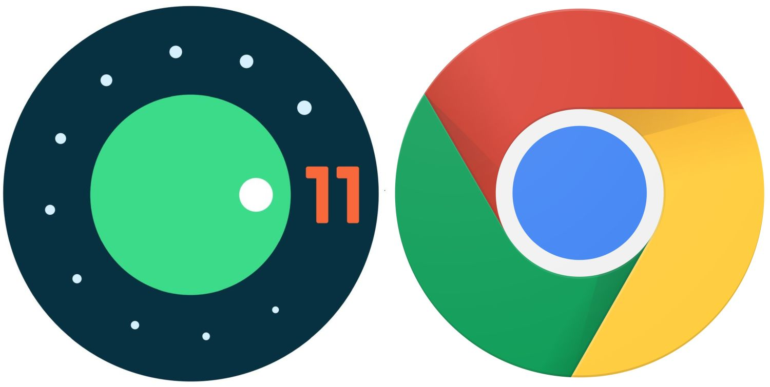 android 11 logo chrome seperate