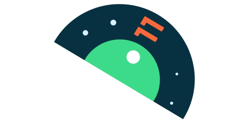Android 11 Logo Half Rotate