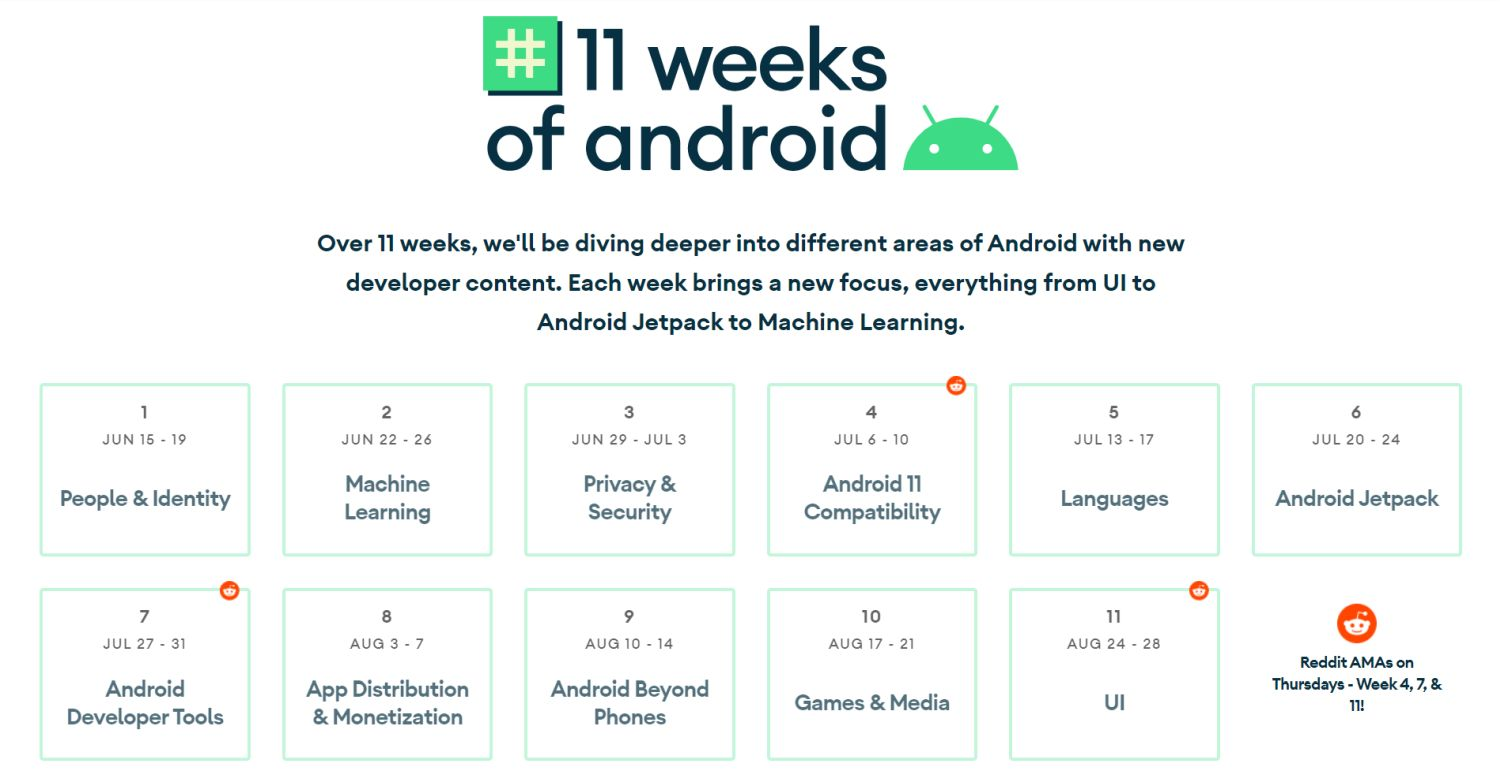 android 11 weeks timeline