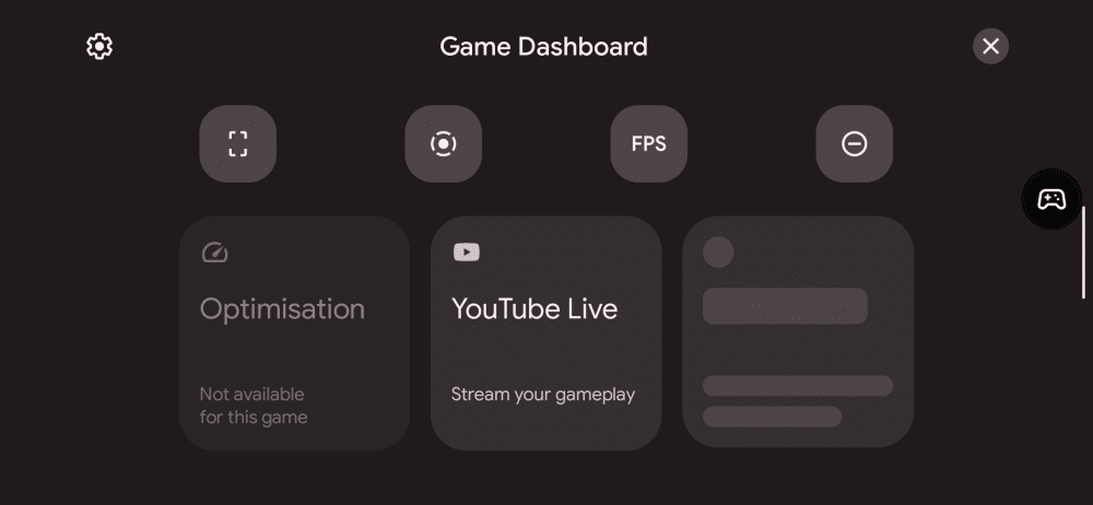 android 12 game dashboard
