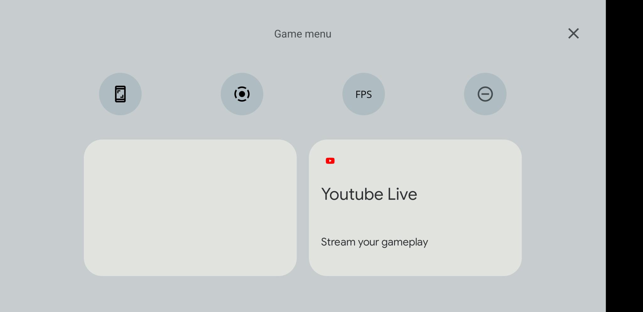 android 12 game menu