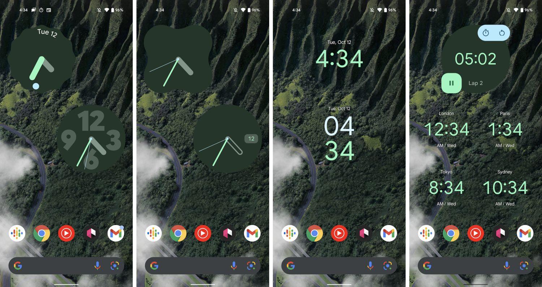 android 12 google uhr widget
