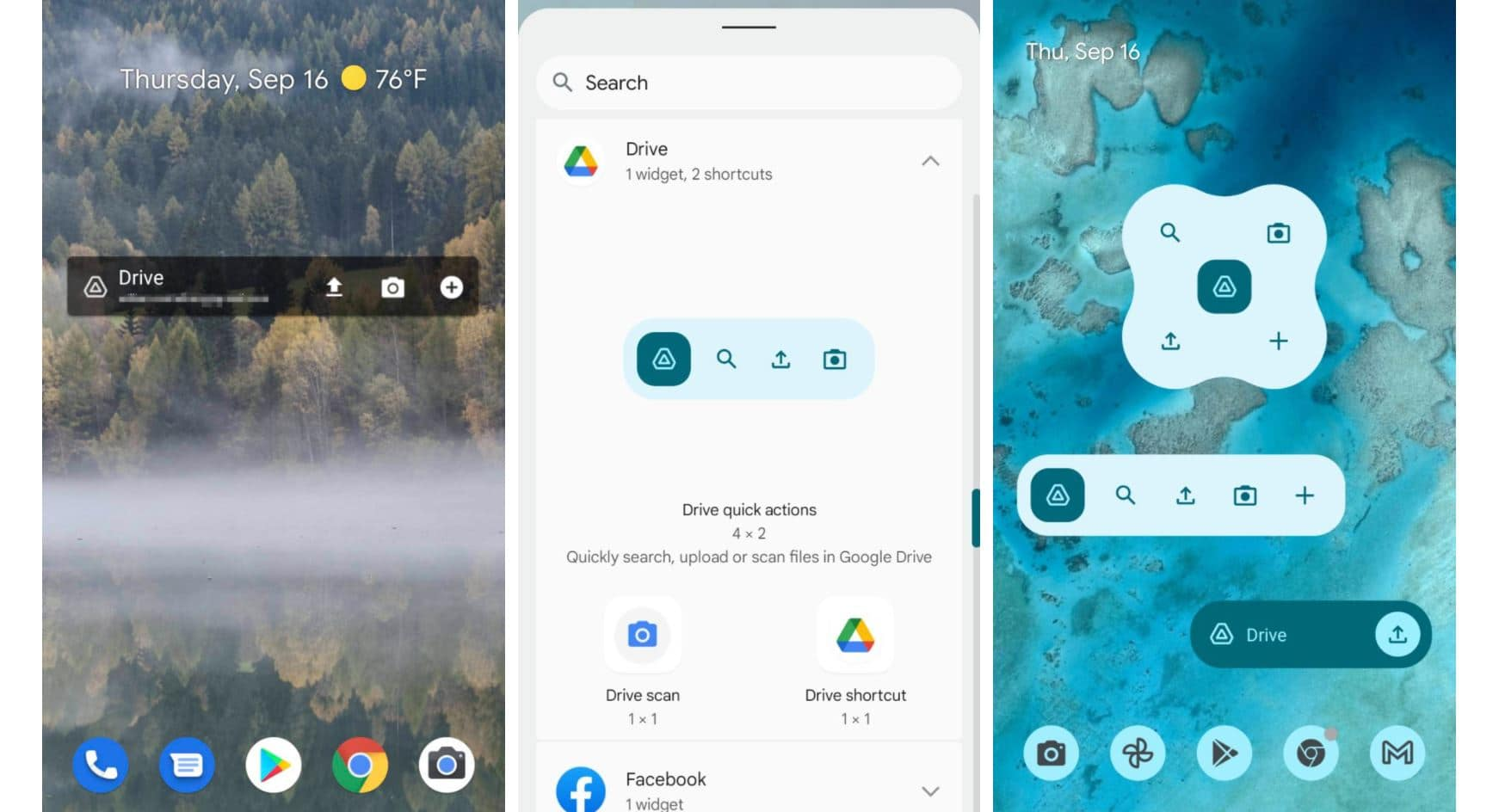 android 12 material you widget google drive