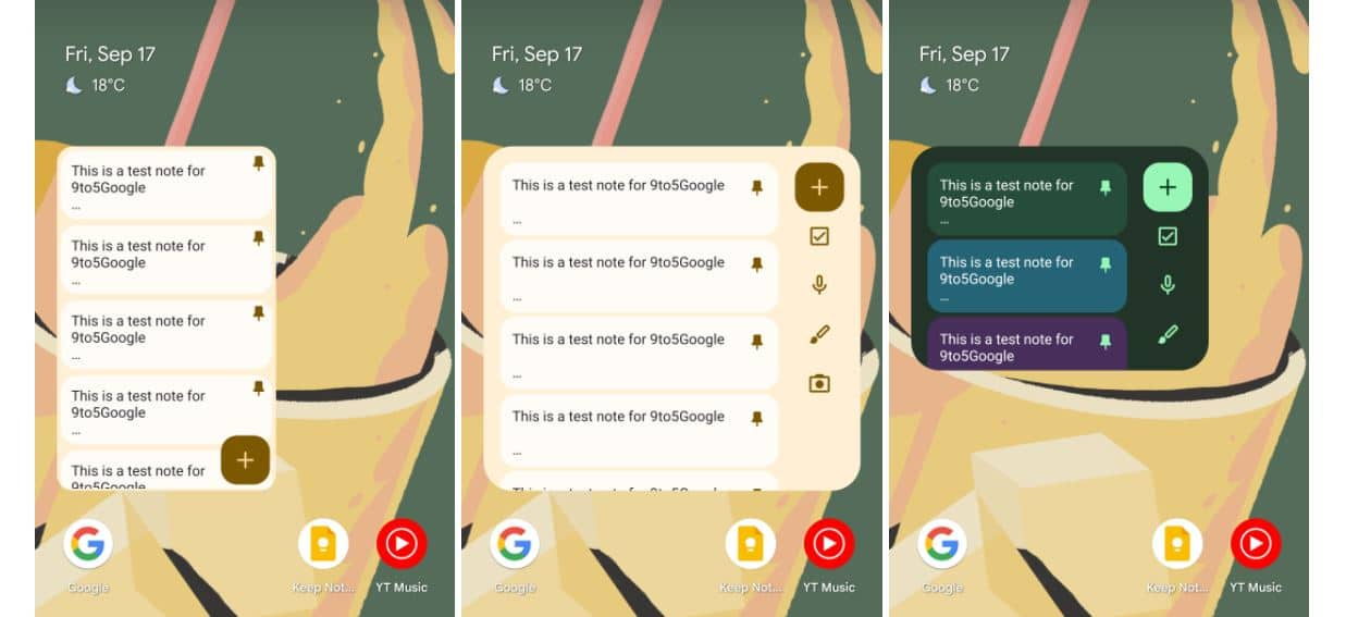 android 12 material you widget google keep 2