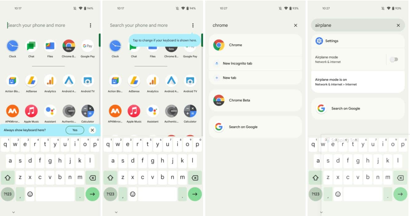 android 12 pixel laucher search