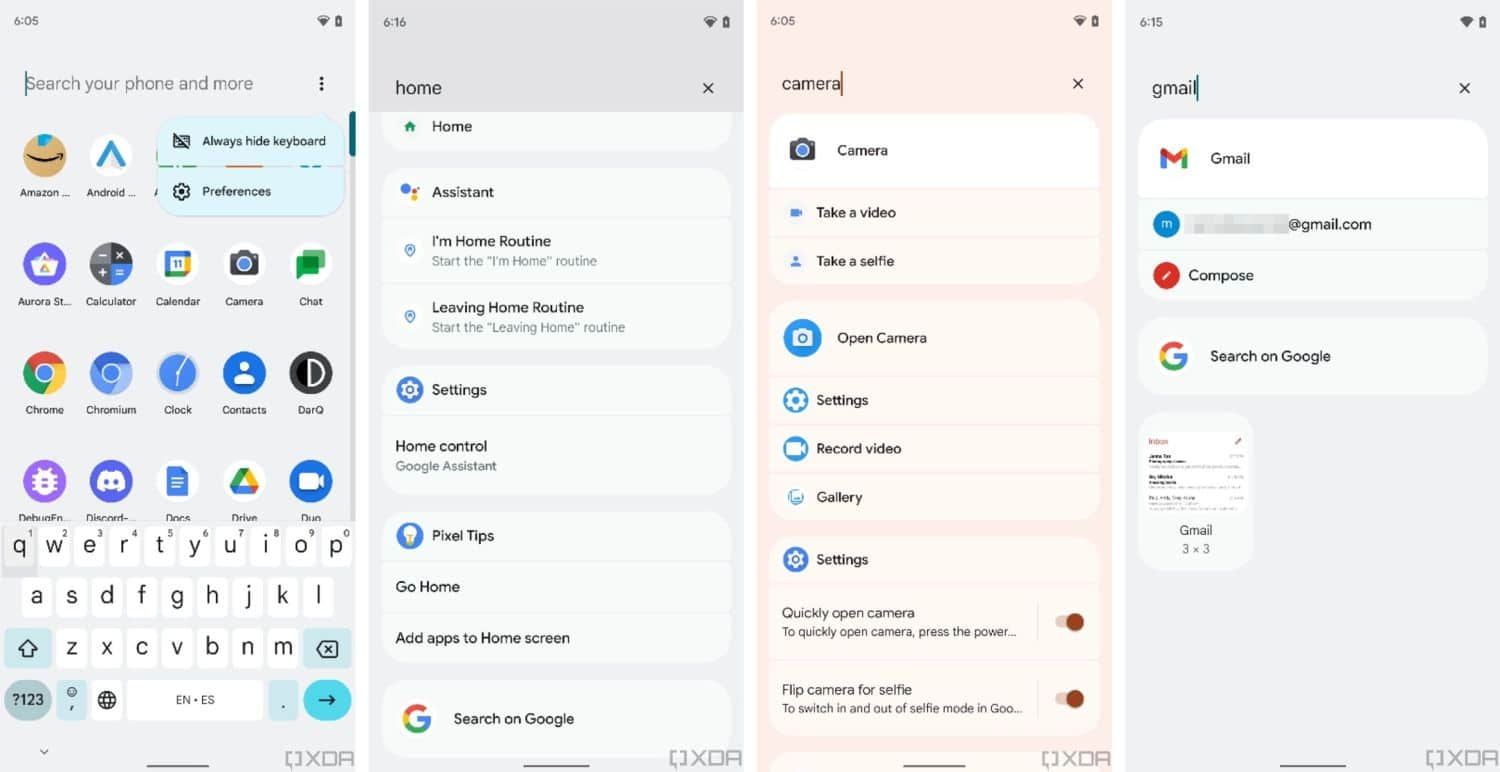 android 12 pixel launcher search