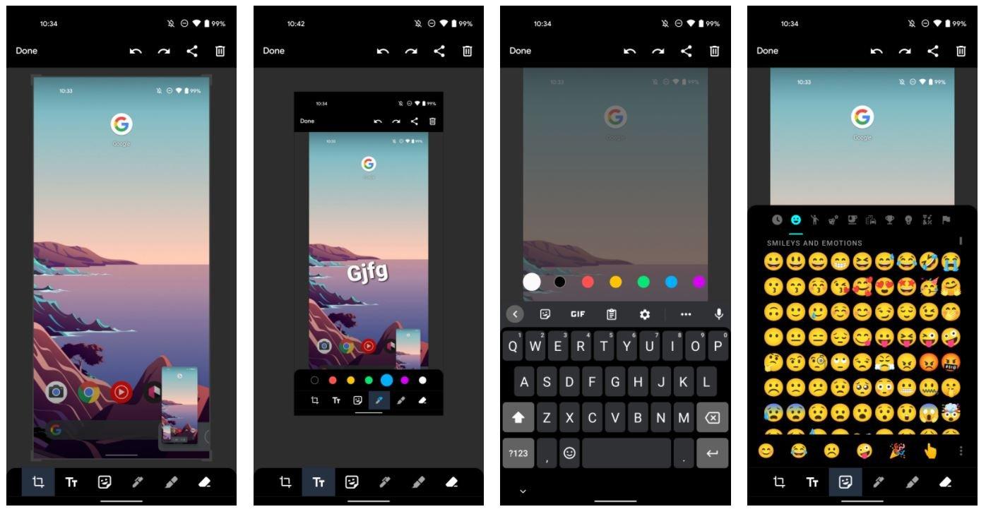 android 12 screenshot tool