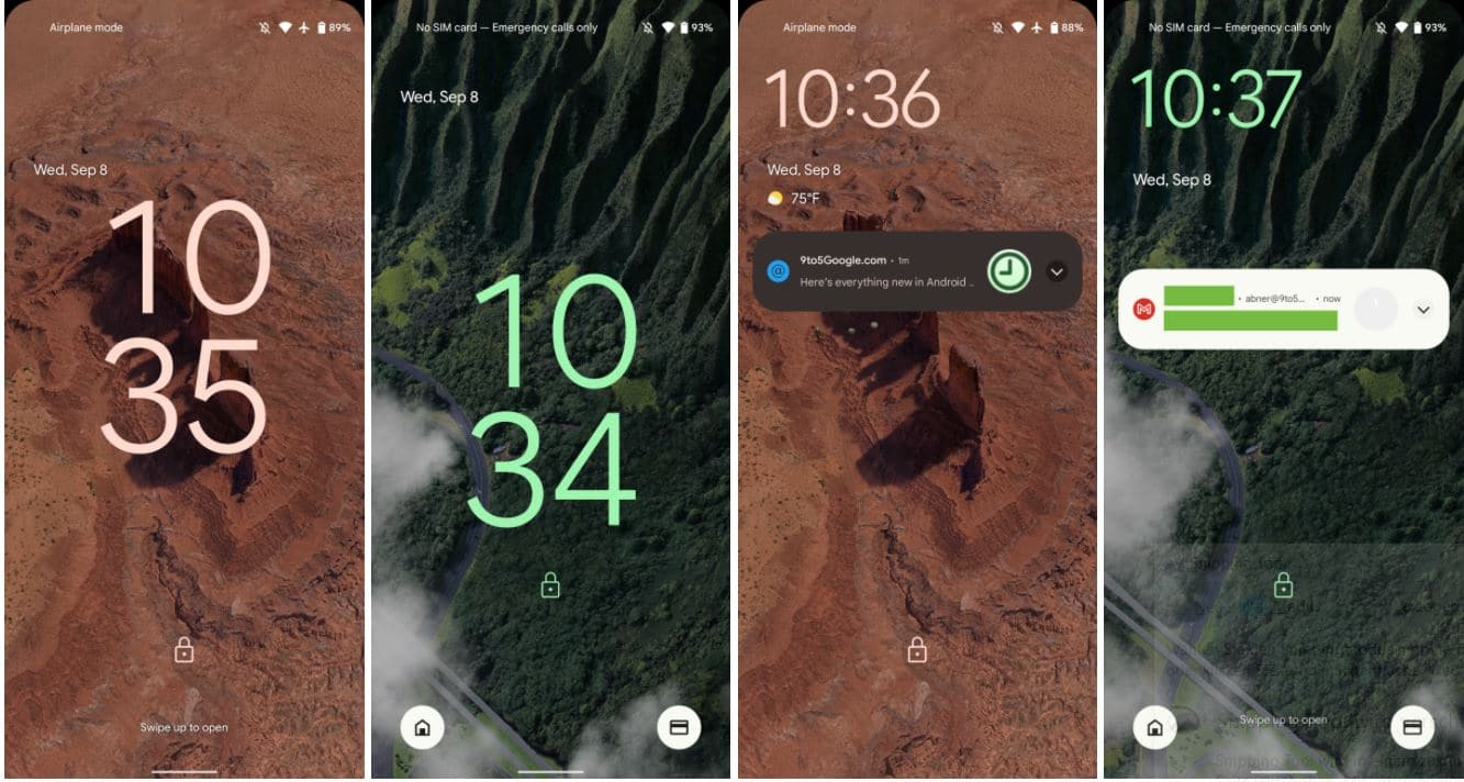 android 12 sperrbildschirm uhrzeit