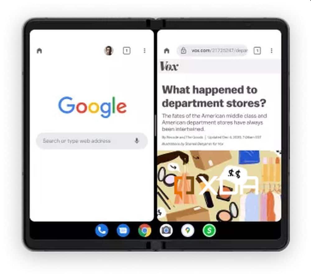 android 12 taskbar pixel fold