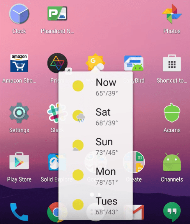 android 3d touch