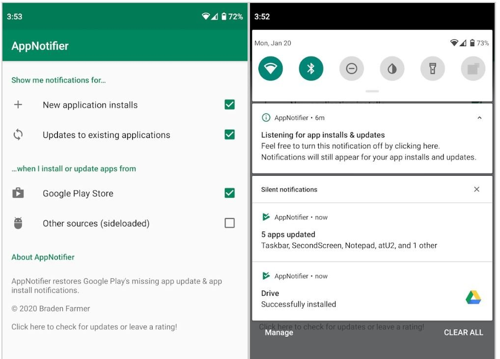 android app notifier