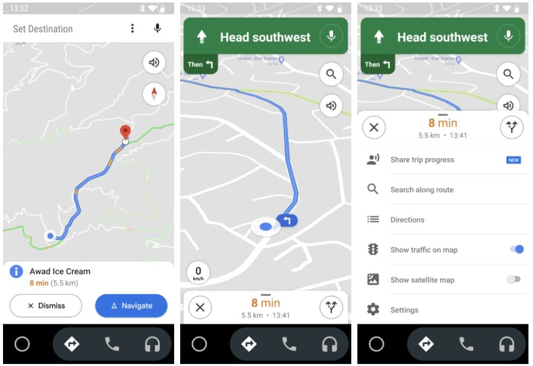 android auto google maps navigation new design 1