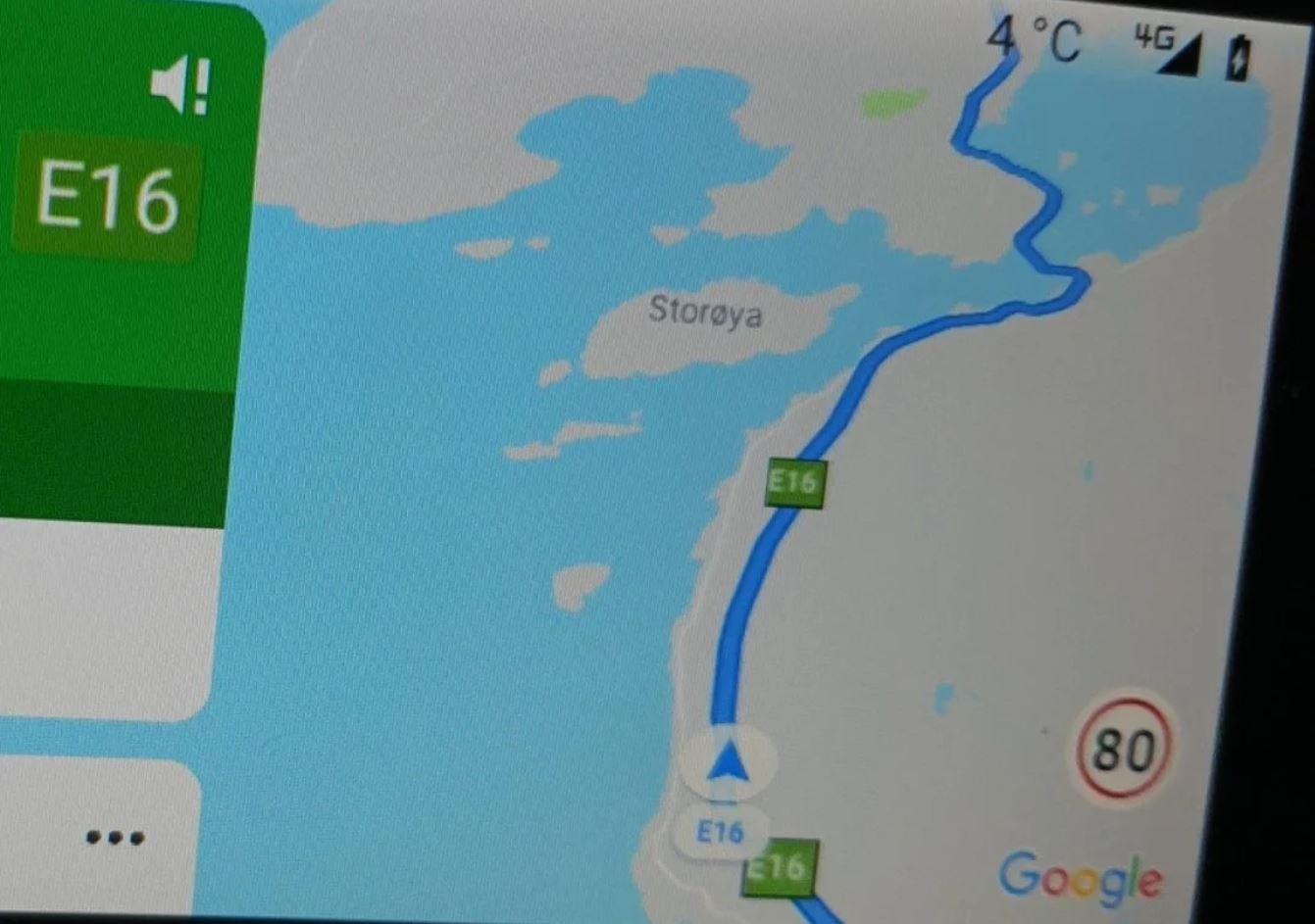 android auto google maps tempolimit