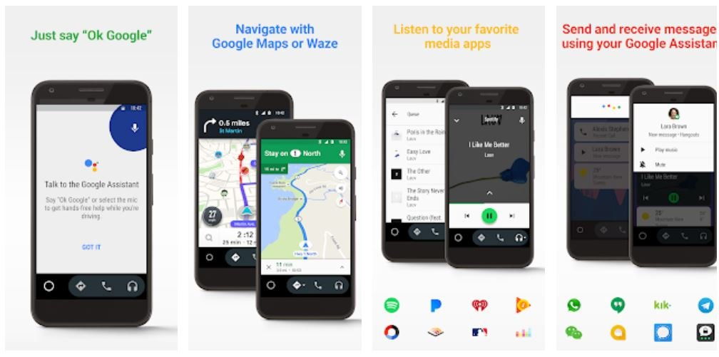 android auto smartphone display