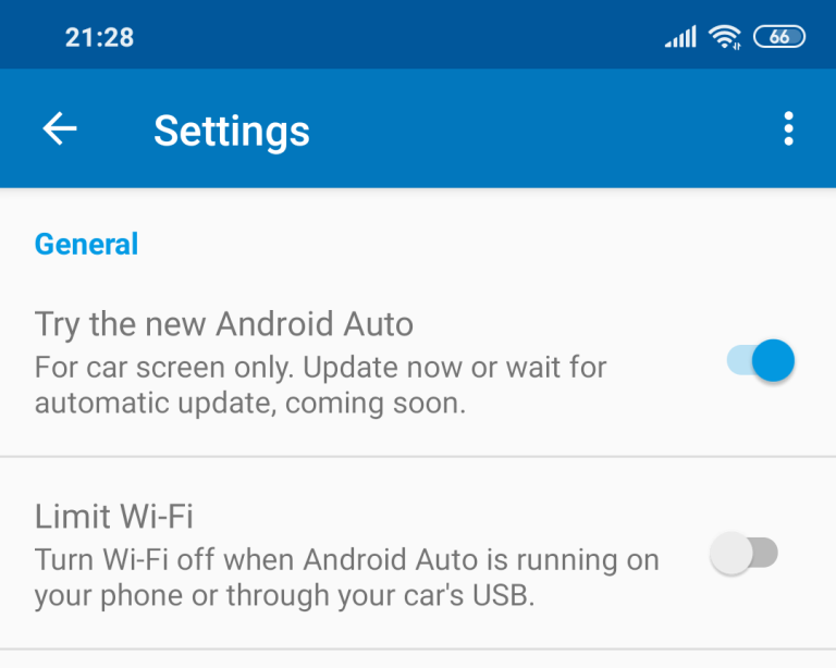 android auto smartphone settings