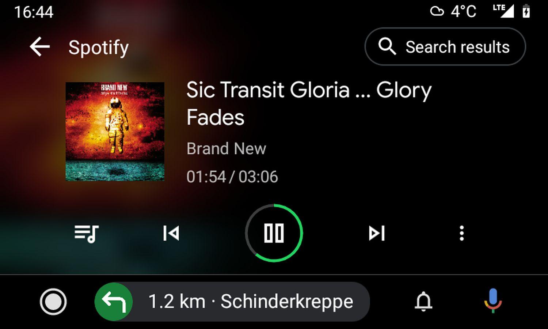 android auto spotify musiksuche november 2020