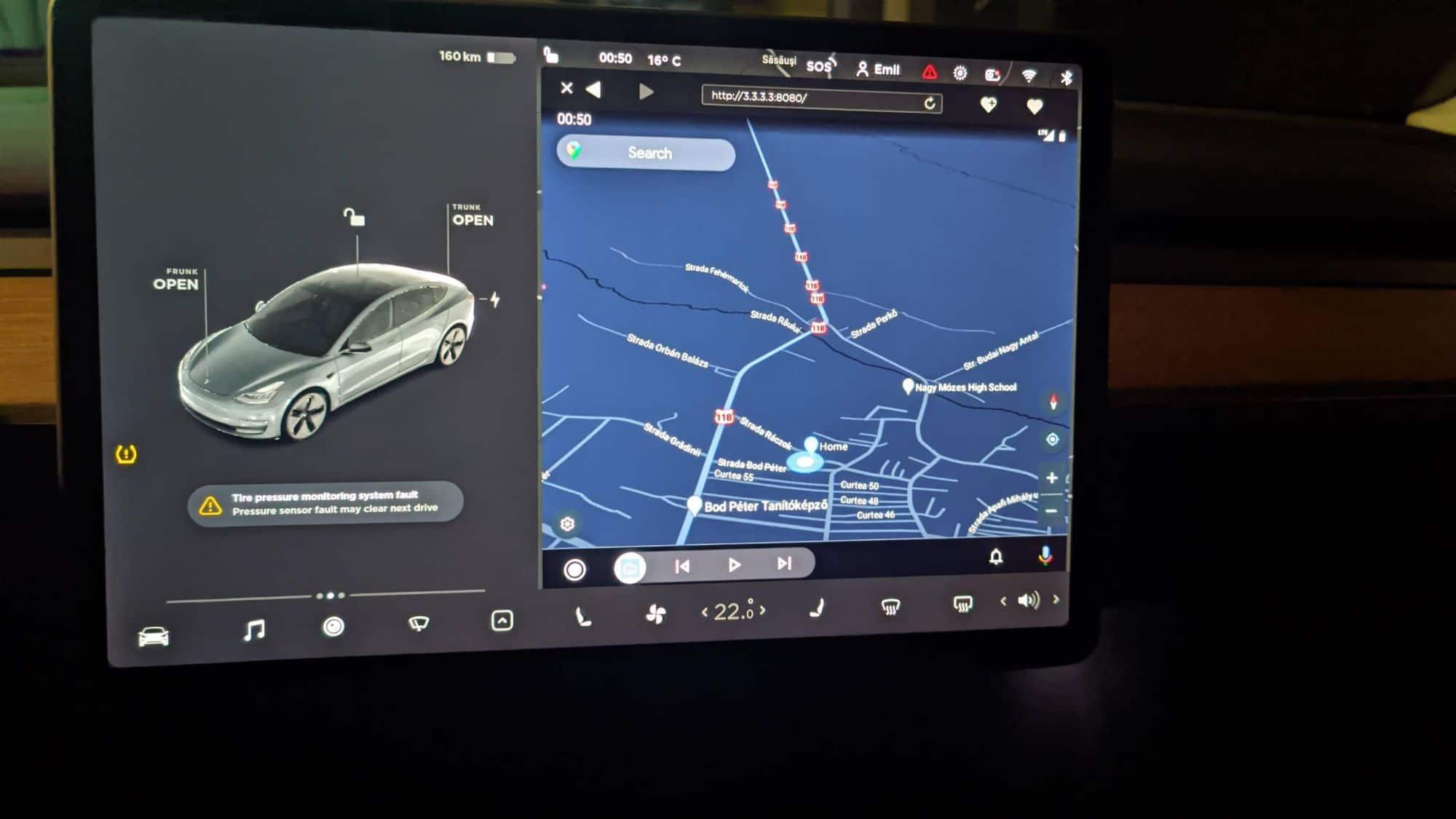 android auto tesla 3