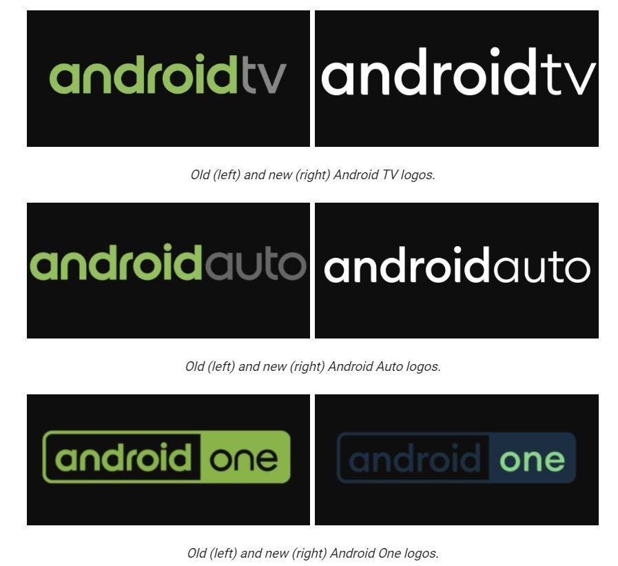 android auto tv one logos