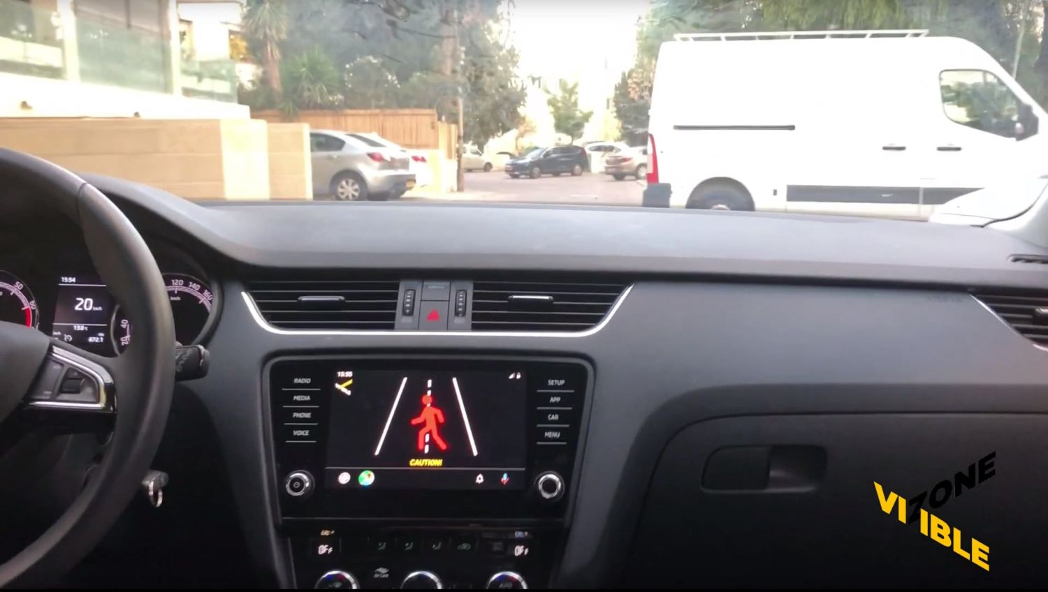 android auto visiblezone
