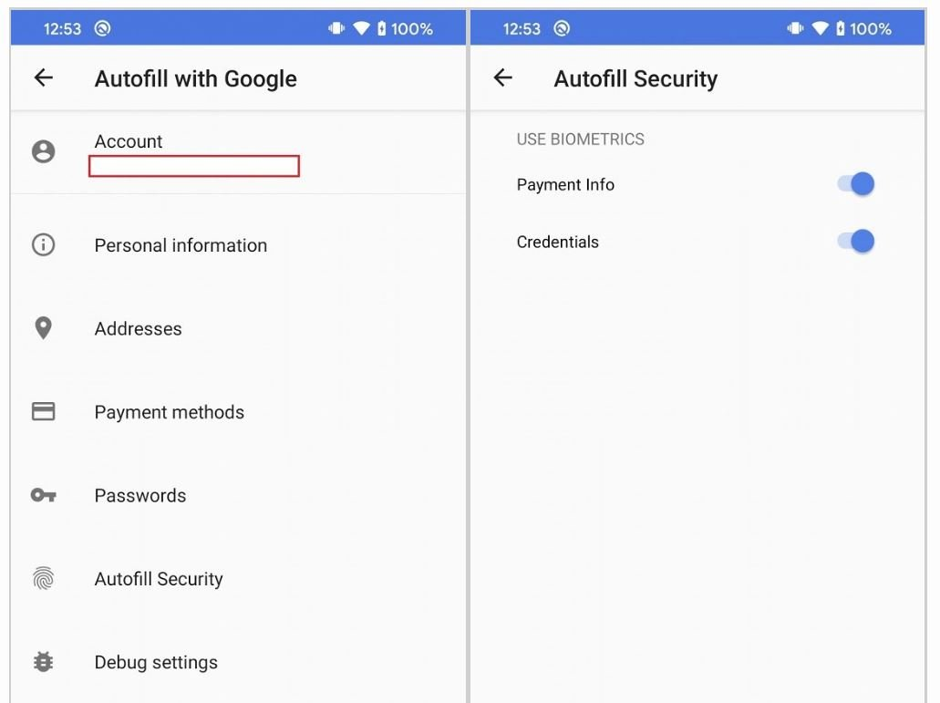 android autofill security