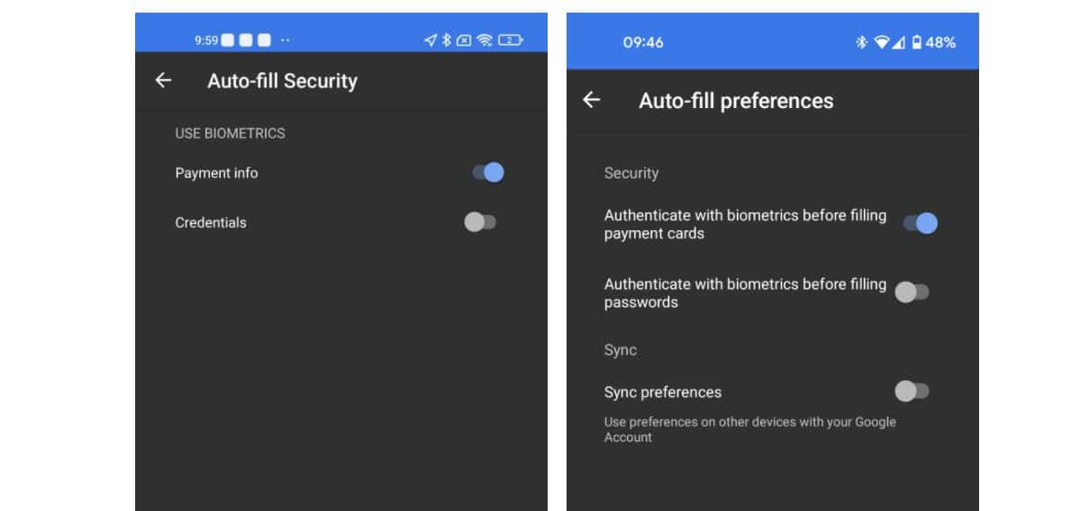 android autofill sync