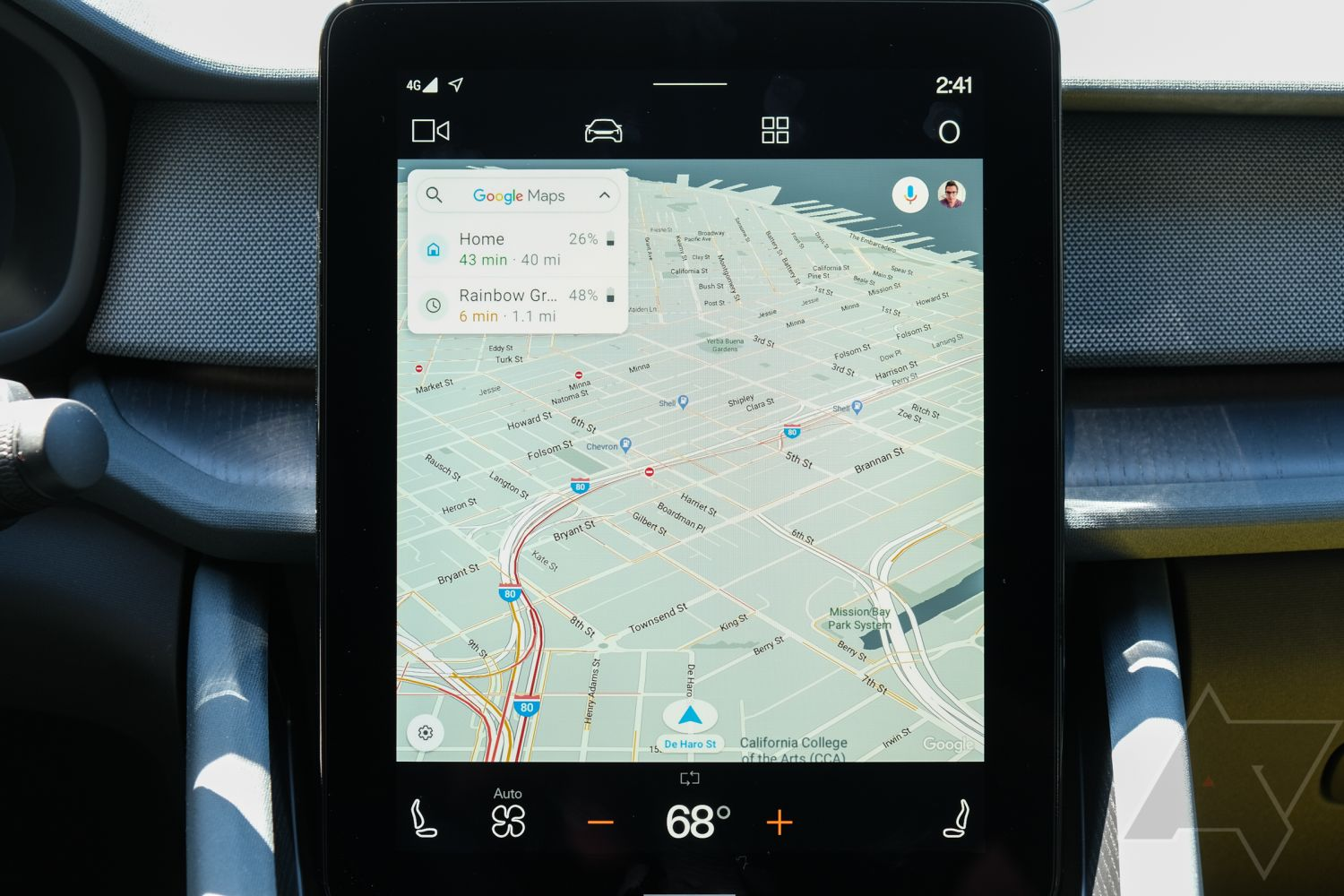 android automotive app display