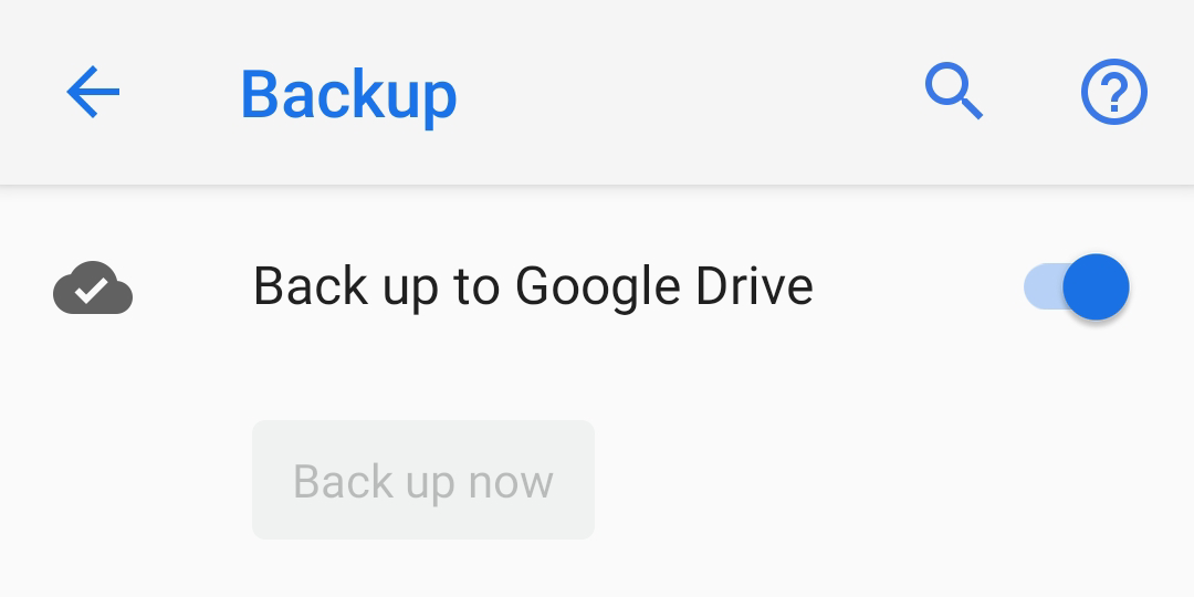 android backup google drive error