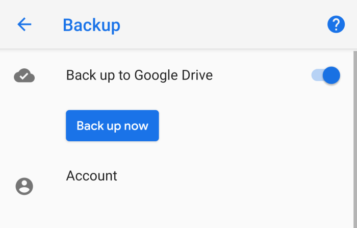 android backup google drive