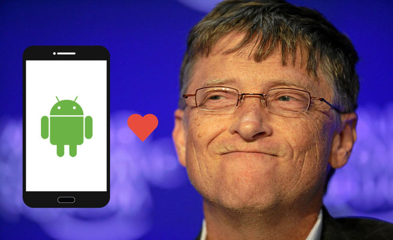 android bill gates