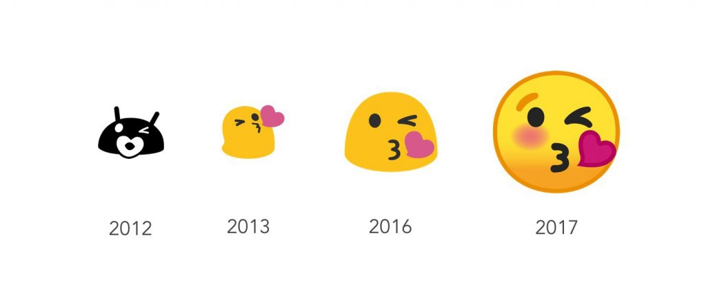 android emojis years