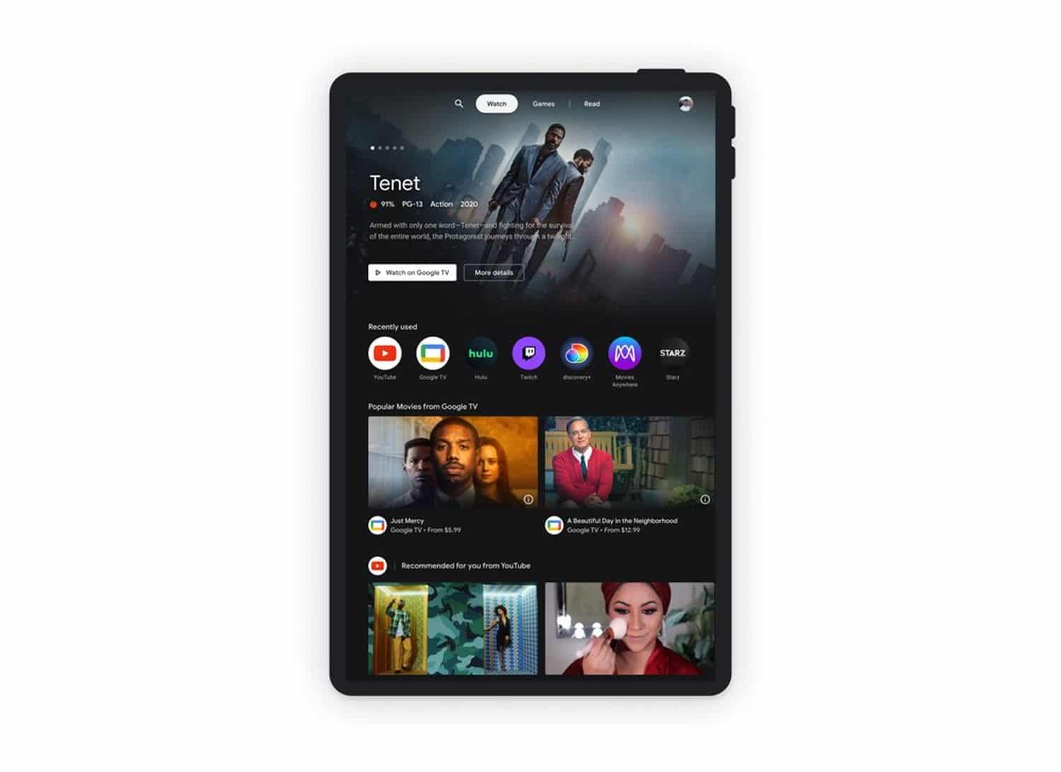 android entertainment space