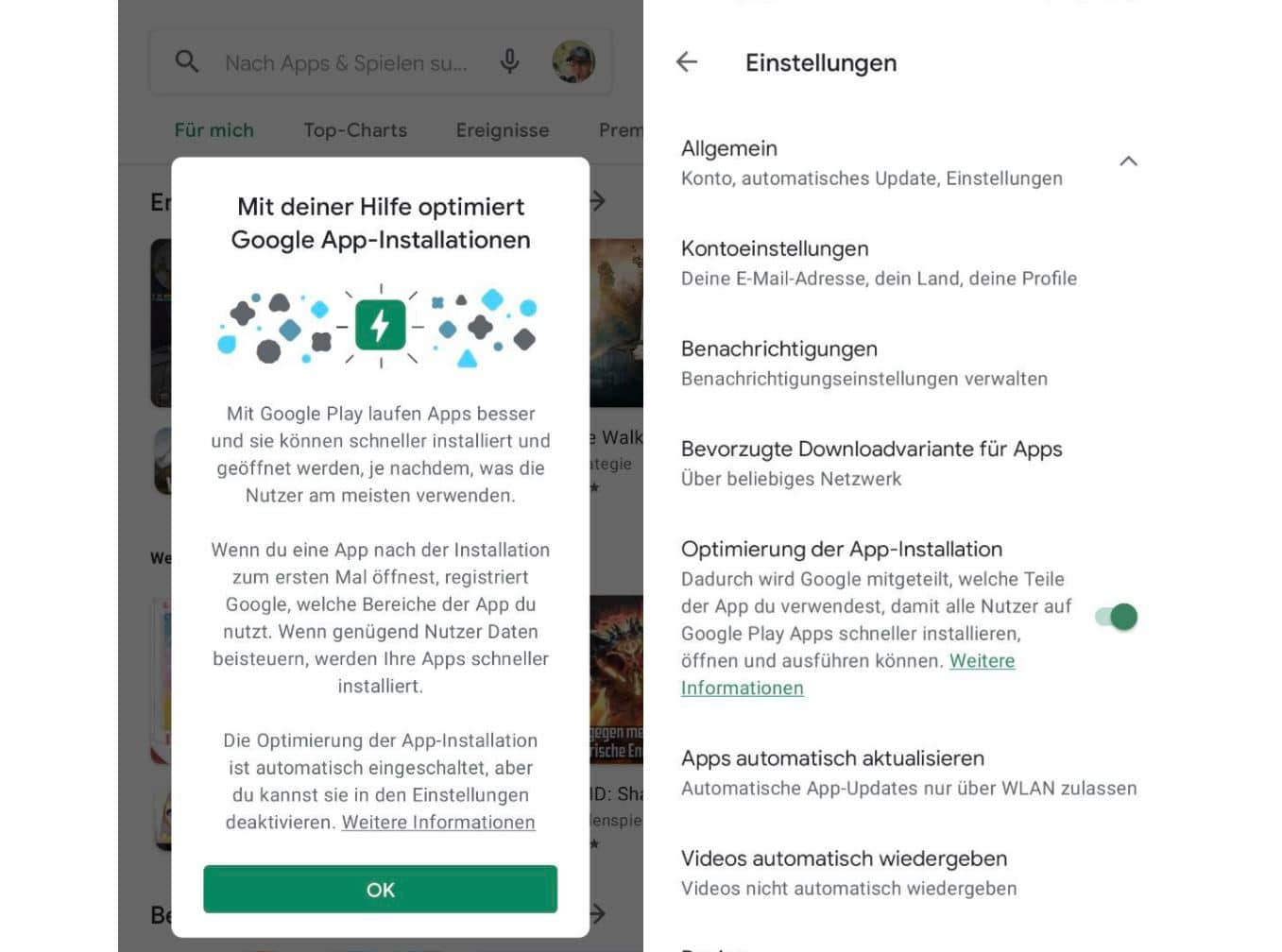 android google play app optimierung