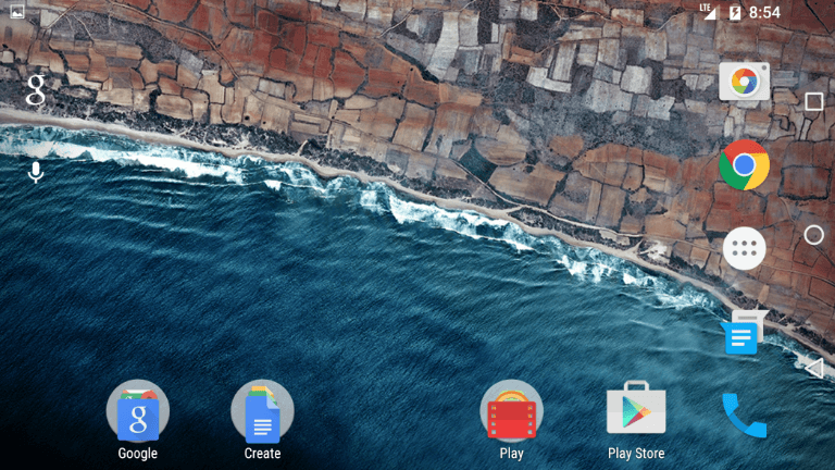 android m landscape mode
