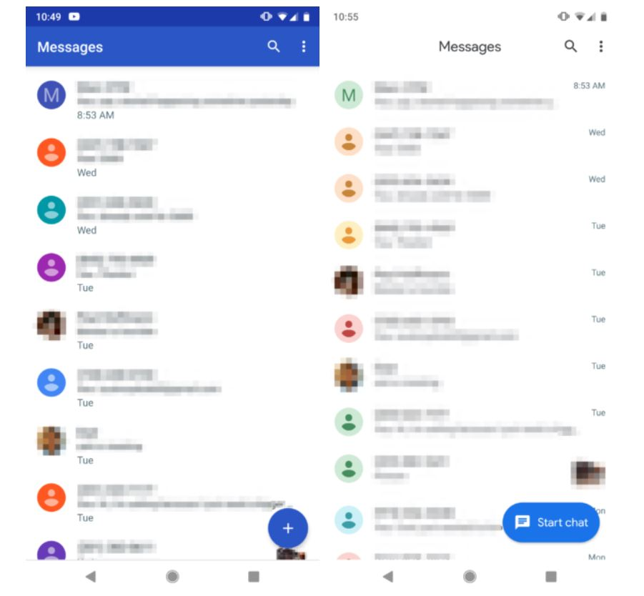 android messages design new