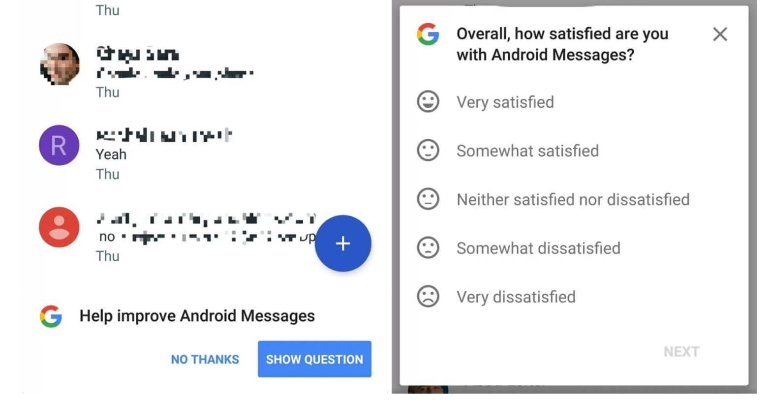 android messages umfrage