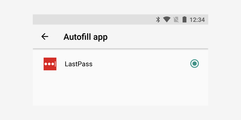 android o autofill lastpass