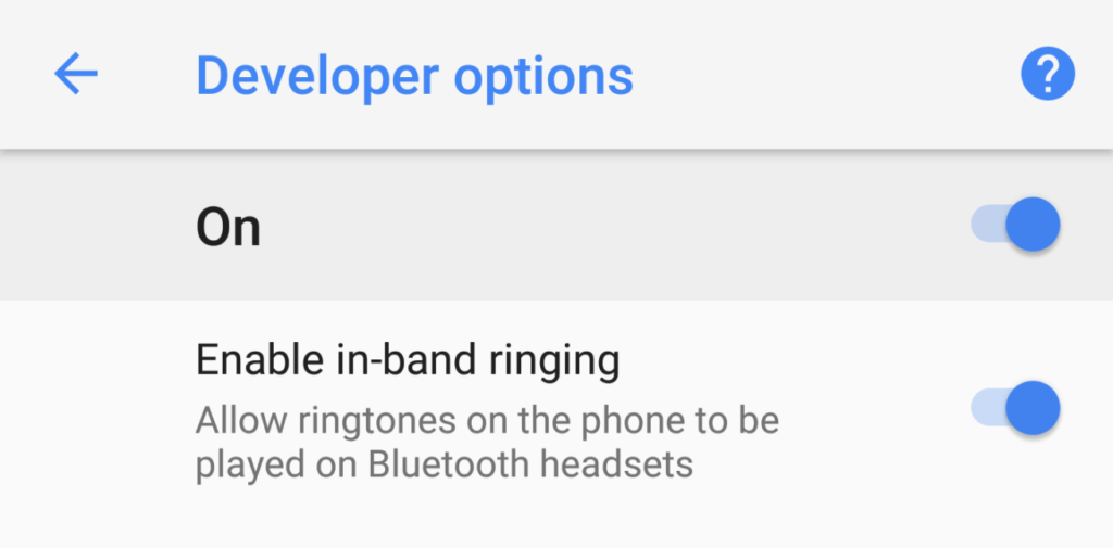 android o bluetooth earspeaker