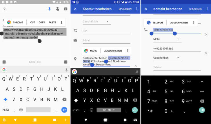 android o copy and paste