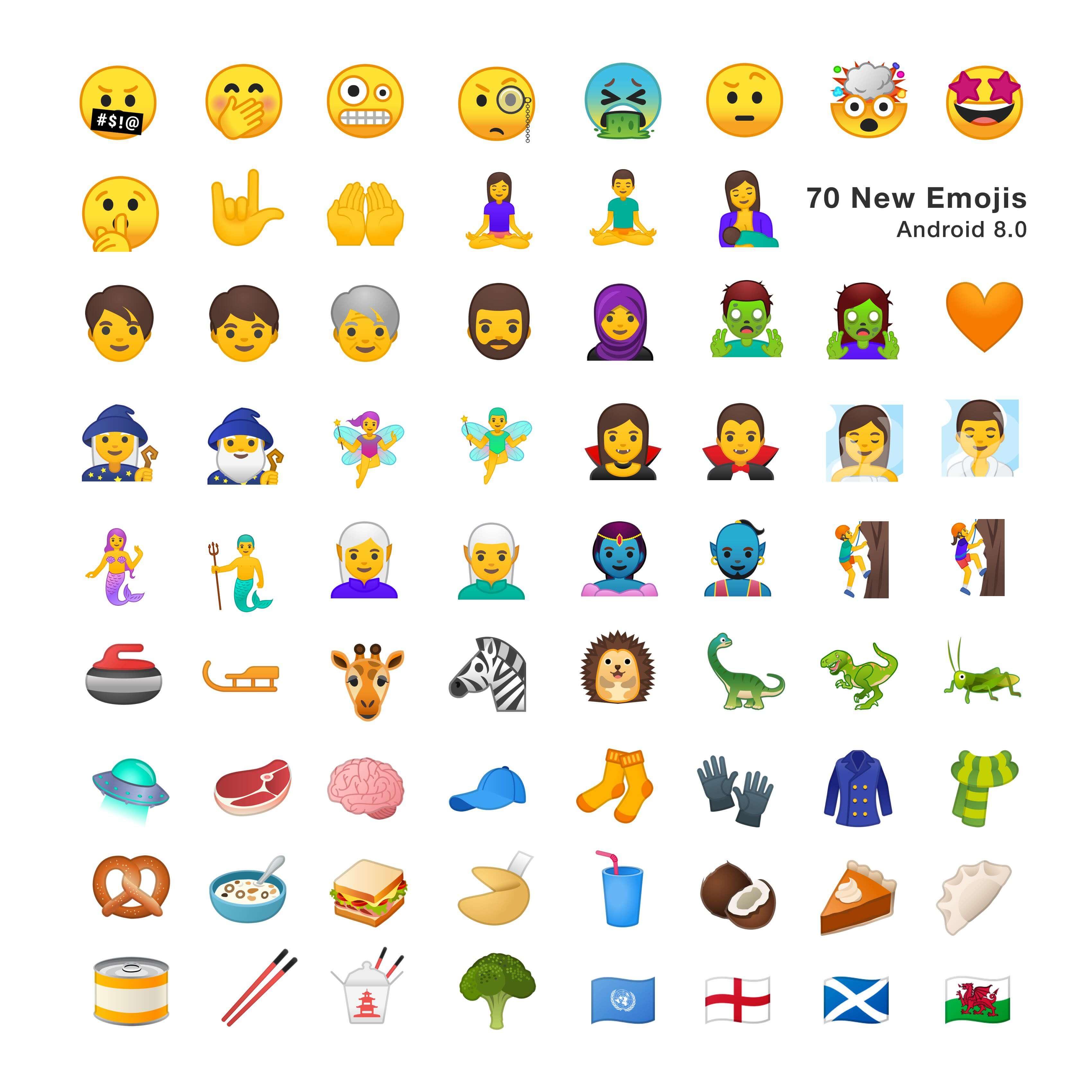 Emojis Android Neu