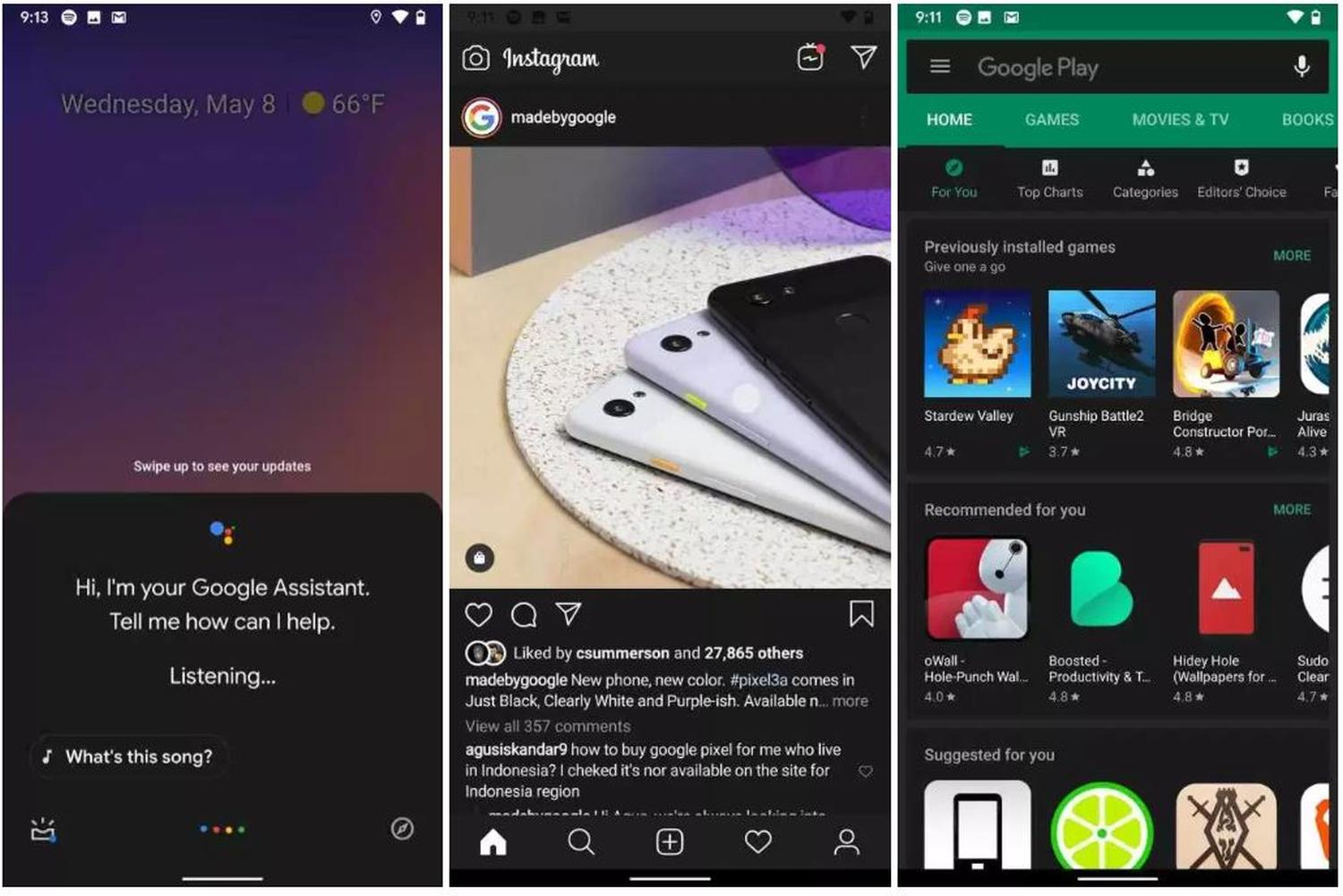 android q all apps dark mode