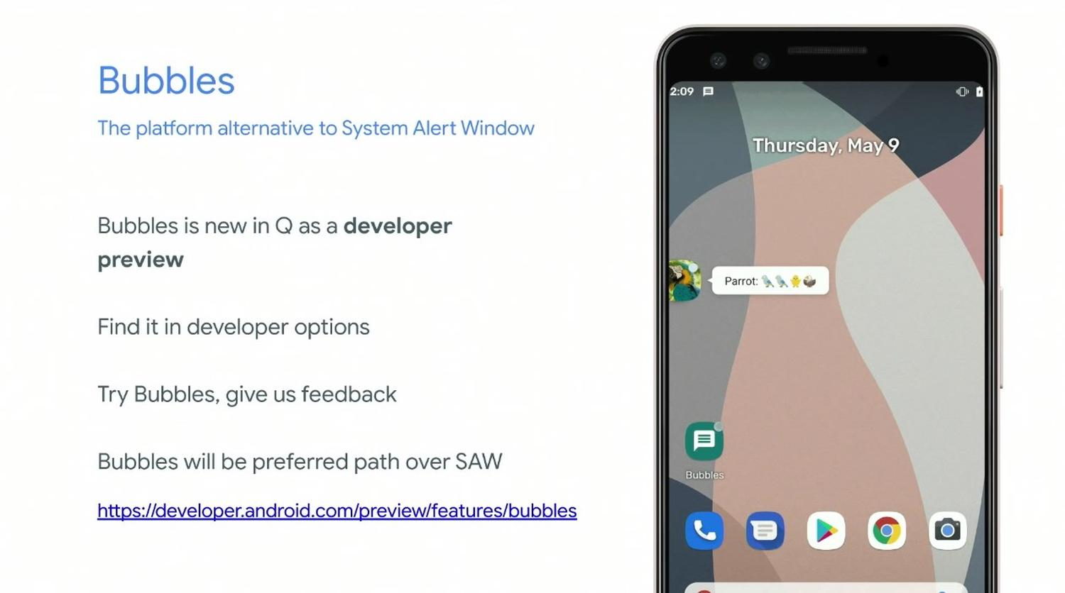 android q bubbles notification
