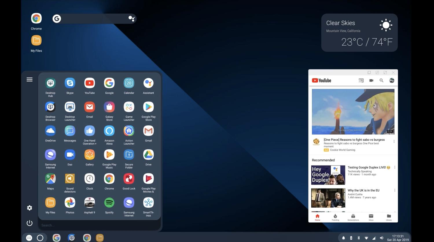 android q desktop launcher