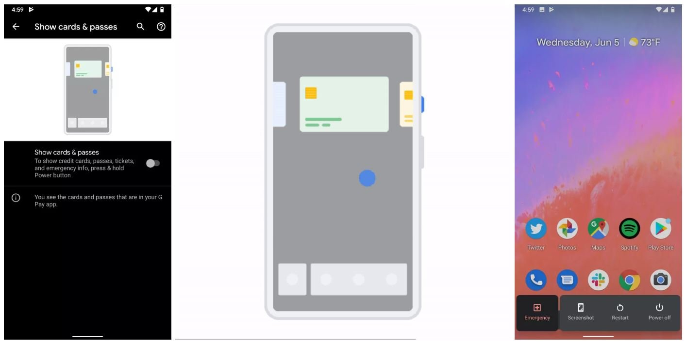 android q google pay cards