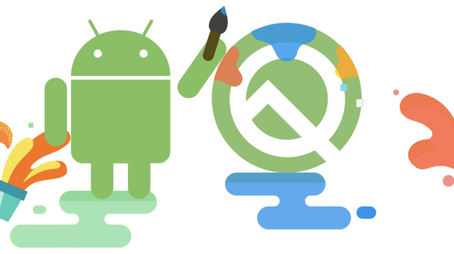 android q logo paint
