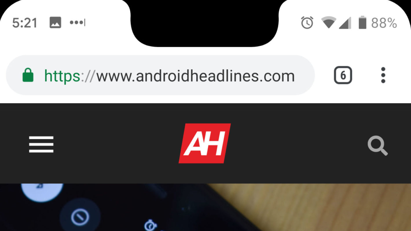android q notch screenshots