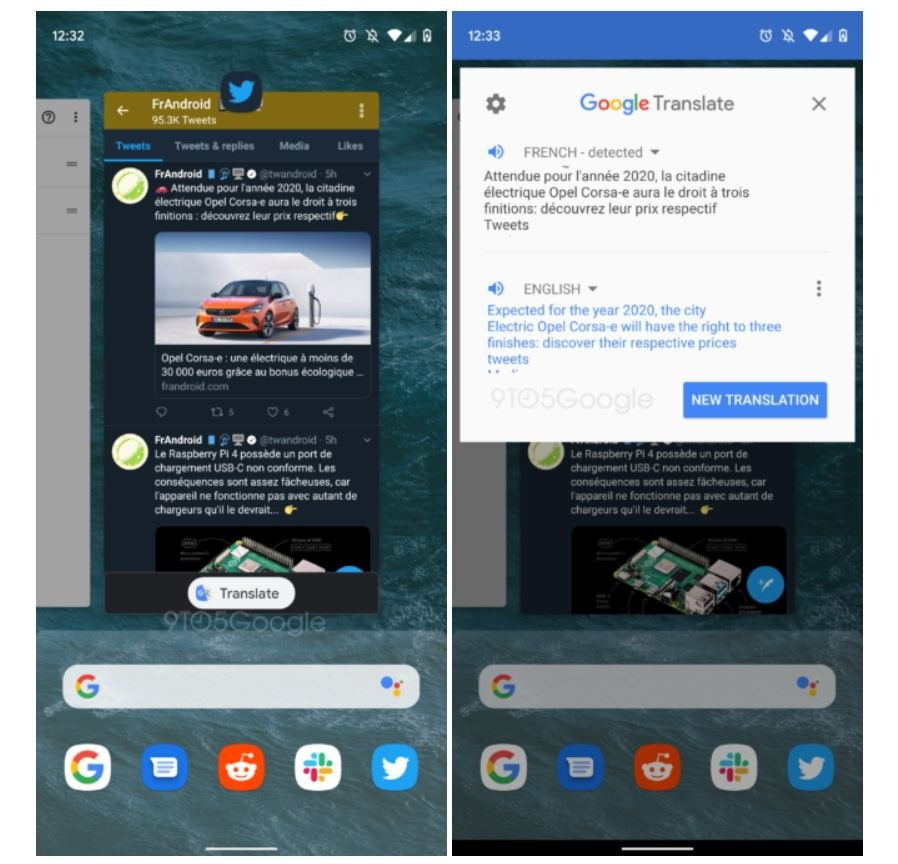 android q pixel launcher google translate