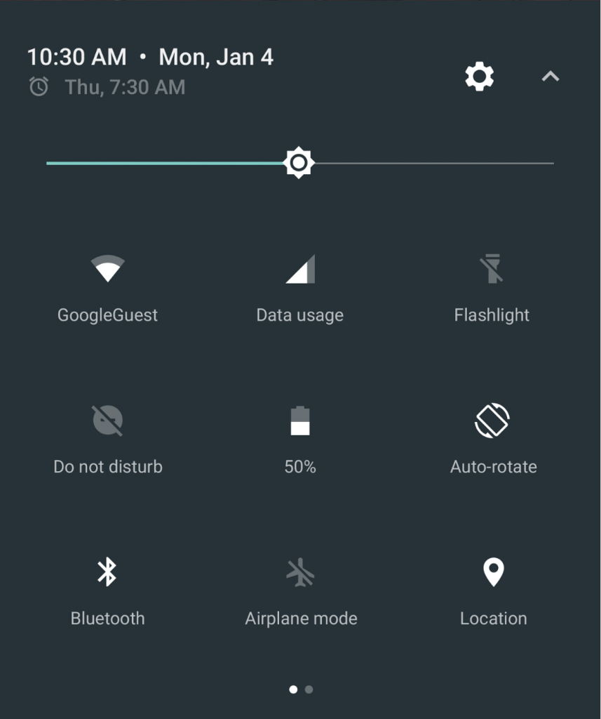 android quick settings
