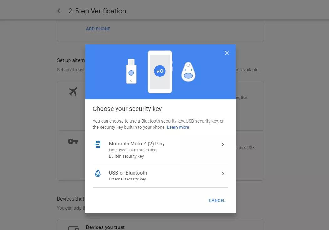 android security key