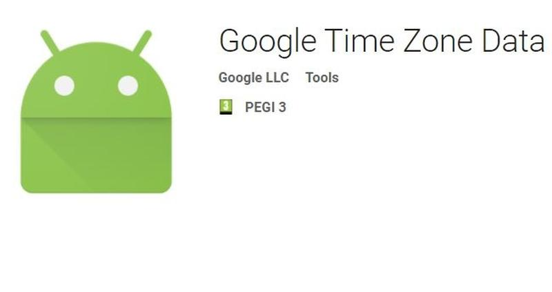 android time zone data app